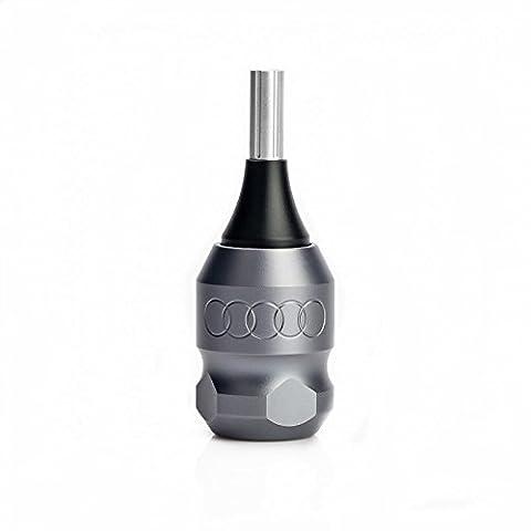 32mm Tattoo Cartridge Griff verstellbare Twist Ringe Grau für Coil Rotary Machines mit 2 Stück Nadel Bars