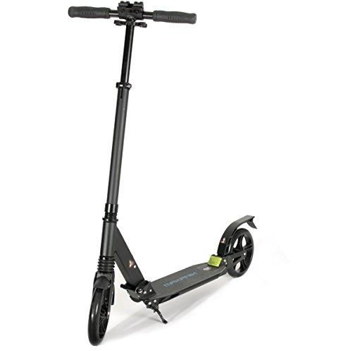 MAKANIH® Cityroller Scooter für Erwachsene Big Wheel Aluminium Kickscooter Tretroller 205mm für Kinder ab 12 mit Doppelfederung - 1 Jahr Herstellergarantie