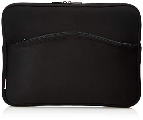 Hama Comfort Notebook-Cover (Schutzhülle für Notebook, Netbook, Laptop, Notebooktasche geeignet für Computer bis 40 cm / 15,6 Zoll Bildschirmdiagonale, Laptoptasche stoßfest, gepolstert) schwarz