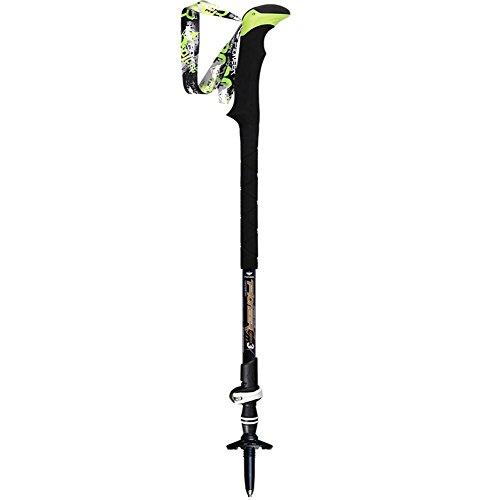 Tringle de randonnée EVA Handle Fibre de carbone Ultra léger Mountaineer Stick 3 section Poteau de marche extérieur réglable Alpenstock Trekking Poteaux pour faire du ski Randonnée Trekking Marcher