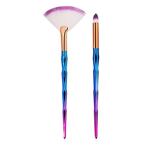 Beauty-Werkzeuge,Daysing Kosmetikpinsel Pinselset Rougepinsel Augenbrauenpinsel Puderpinsel Lidschattenpinsel 2 Stück Make-up Pinsel-Sets
