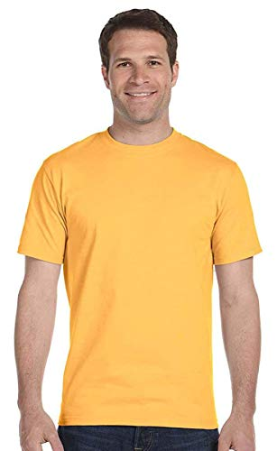 Hanes Mens 6.1 oz. Beefy-T(5180)-Gold Nugget-S -
