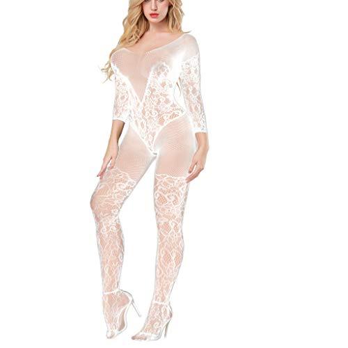 Damen Dessous mit Spitze, Übergröße, Fischnetz, sexy Unterwäsche, Babydoll, Nachtwäsche