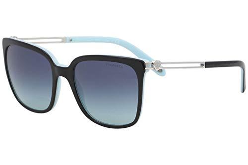 Tiffany 0ty4138 80559s 54, occhiali da sole donna, nero (black/blue/azuregradientbluee)