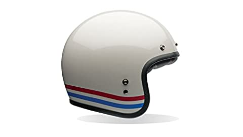Bell Custom 500 Stripes L Stripes Pearl White