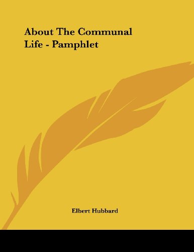 About the Communal Life - Pamphlet