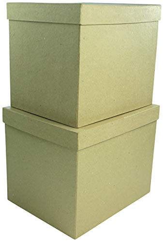 Décopatch--Juego de 2Cajas rectangulares, bts911C, 25x 20x 20/23,5x 18,5x 19,5cm