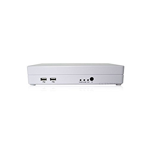 CTVMAN Hybird 4 Channel Full D1 CCTV DVRs 4CH Stand Alone Support ONVIF IP and Analog Cameras For Home Surveillance System Network 960H Recorder CM0204Q(Color:White)