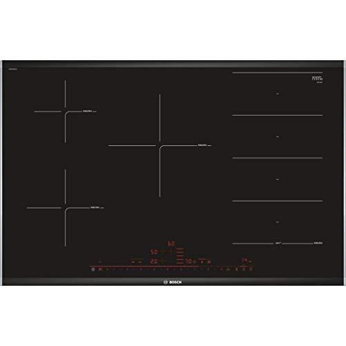 Bosch Serie 8 PXV875DC1E hobs Negro Integrado Con - Placa (Negro, Integrado, Con placa de inducción, Vidrio y cerámica, 1400 W, Alrededor)