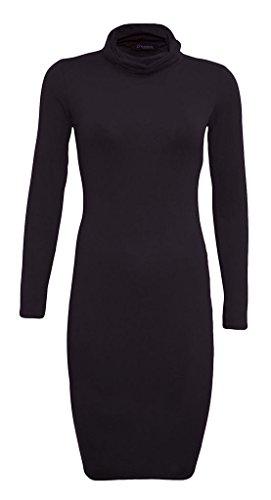 Fashion Lovers - Robe - Manches Longues - Femme blackk
