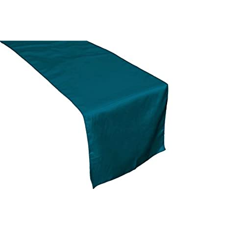 Teal wedding decorations amazon ourwarm 12 x 108 inch satin table runner wedding party table decorations teal blue junglespirit Choice Image