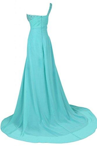 Sunvary un elegante scollo a tracolla, Maxi, abiti da damigella d'onore abito da sera Gowns Verdone