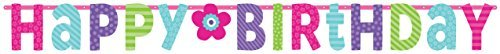Charming Purple and Teal Birthday Party Giant Letter Banner Decoration, Multi , 11 Feet x 12 1/2 cardboard paper by TradeMart Inc. (Teal Purple Party Und)