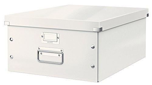 Leitz, Große Aufbewahrungs- und Transportbox, Weiß, Mit Deckel, Für A3, Click & Store, 60450001 - Zeitschrift Täglich Zeichnung