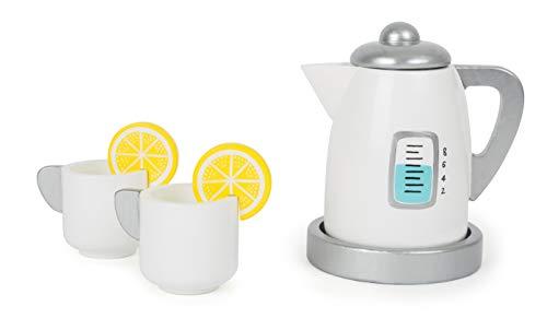 (Small Foot 11115 Tee-Set mit Wasserkocher aus Holz, Förderung von kreativen und motorischen Fähigkeiten, speziell für die kleinen Kinderhände Spielzeug, Mehrfarbig)