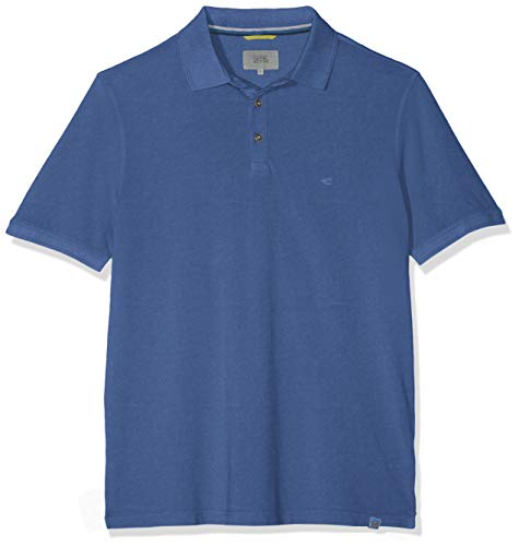camel active Herren Basic Polo PIQUÉ 1/2 Poloshirt, Blau (Blue Core 15), Herstellergröße: XX-Large