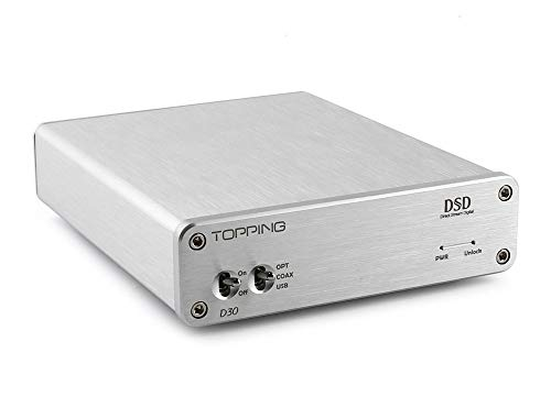 Topping D30 DSD Décodeur Audio USB Fibre Optique Coaxiale XMOS CS4398 24Bits 192KHz