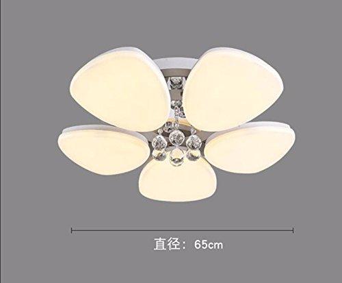 LighSCH Deckenleuchten Modernes minimalistisches Crystal Um den floralen 5 Kopf Gelb Ø 65cm Schlafzimmer Lampe Lampen LED Floral Dome