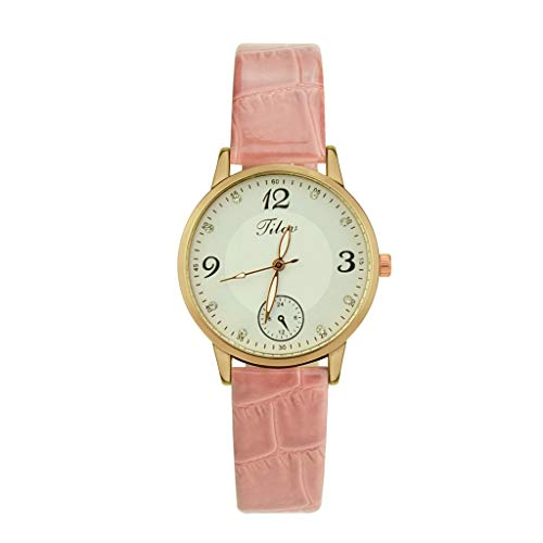 IG Invictus Simple Style Fashion Casual Women es Watch Quartz Watch Leather Strap Watch Frau Jilou einfache Mode Lederuhr ZYB 23 Rosa Schlichte Mode, Leder Lady