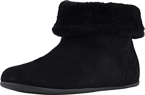 Fitflop SarahTM Shearling Slipper Booties in Black