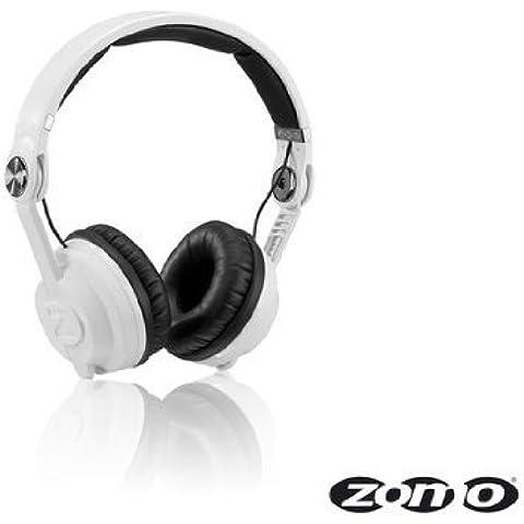 Zomo HD-2500 - Auriculares de diadema para DJ (altavoces de 40 mm, 115 dB), color blanco