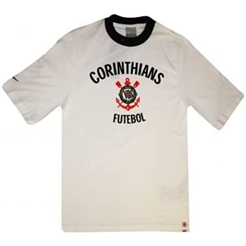 Corinthians SC-Maglietta da calcio, con stemma della squadra, unisex