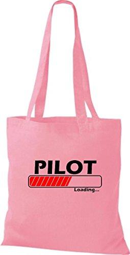 Jute Stoffbeutel Pilot Loading viele Farben rosa
