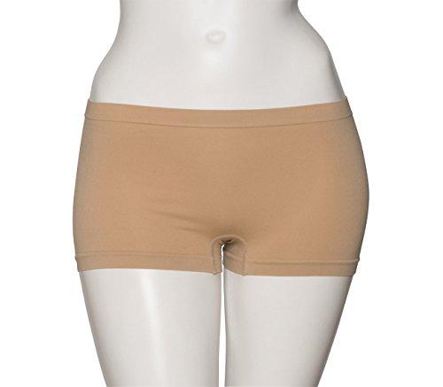 Girls Ladies Nude Seamless Dance Hipster Boxer Briefs Pants Knickers Undergarment By Katz Dancewear