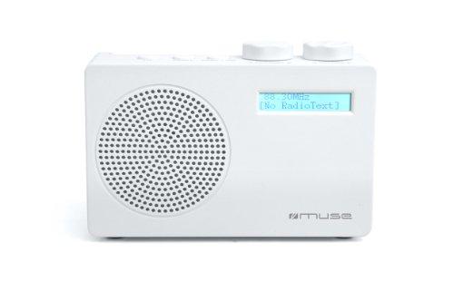 Muse M-100 DW Tragbares Digitalradio (DAB, DAB+, UKW/RDS) weiß
