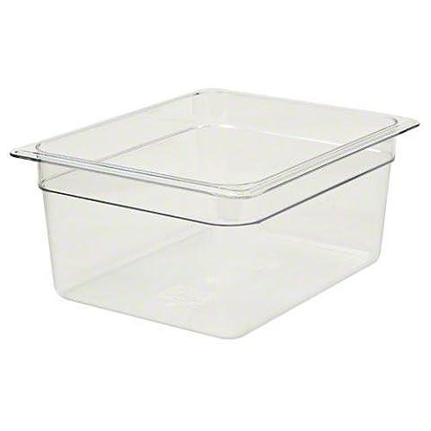 Cambro 26CW110 Camwear Food Pan, Plastic, 1/2 Size, 6inch Deep,