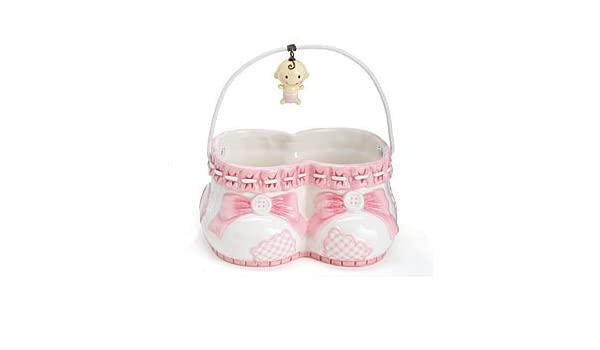 8d0b684a07331 Pink It's A Girl Baby Shoes Planter Babies, Buttons, & Bows ...