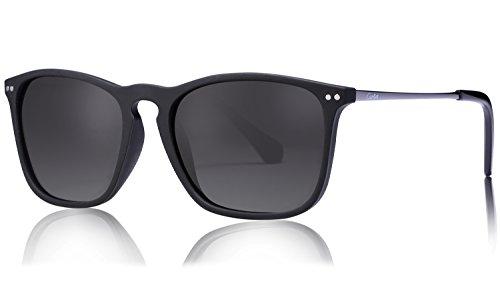Carfia Vintage Polarisierte Herren Sonnenbrille Fahrer Brille 100% UV400 Schutz für Autofahren Reisen Golf Party und Freizeit - Ultraleicht Rahmen (Grau)