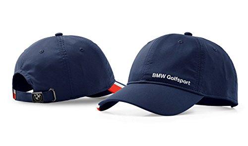 BMW Original Golf Sport Cap Funktionelle Navy Blau Polyester UV-Schutz Navi Blau