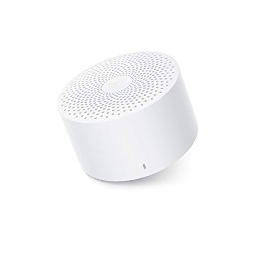 Mi Compact Bluetooth Speaker 2 with in-Built mic and up to 6hrs Battery (White)