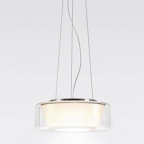 Serien Curling LED-Pendelleuchte M, Glasschirm klar Reflektor opal transparent Reflektor konisch 1400lm...