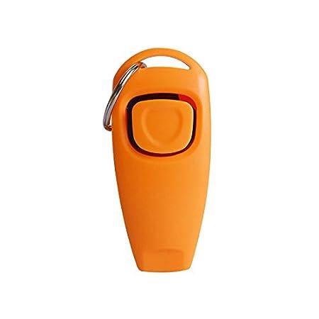 SMARTrich Orange-Haustier-Pfeife Klicker Trainer für Hunde-Zubehör