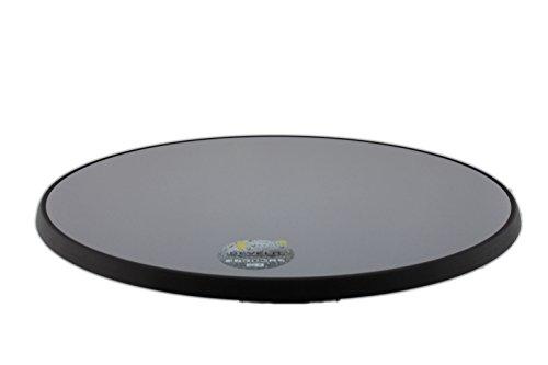 Sevelit Tischplatte Silber-Metall gebürstet, rund, 850mm Durchmesser, wetterfest, schlagfeste Tischkante, Tischplatten ideal als Ersatzteil und zum Nachrüsten -