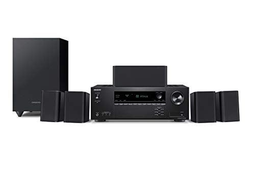 Onkyo HT-S3910(B) 5.1 Home Cinema System with AV Receiver and Speakers (155W/ch,...