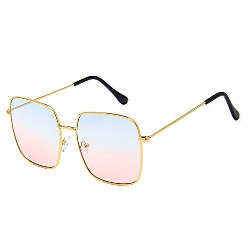 JiMany Damen Sonnenbrille, Cat's Eye Polarized Flat Lens, Metallrahmen, Pilot Herren Retro Large Frame,D