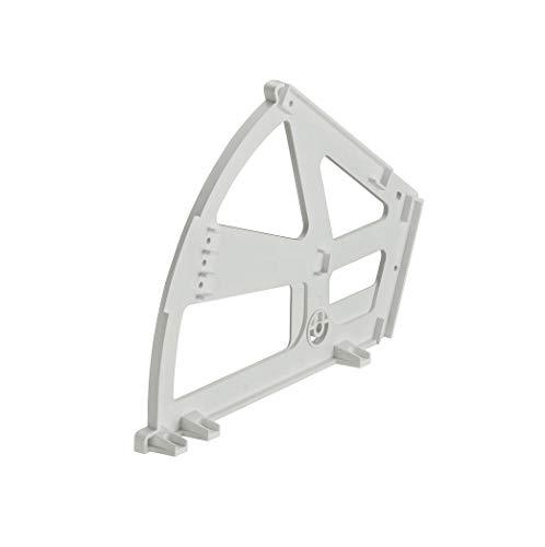 Gedotec Kippbeschlag für Schuhschränke Schuhablage mit 2-Fächern | Drehbeschlag Kunststoff weiß | Schuhschrank-Beschlag zum Einbau in Schuhschränke | 1 Stück