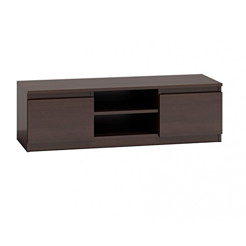 Wenge Dark Brown 120cm Wide Tv Unit Stand With 2 Doors.fits Up To A 44inch Tv.