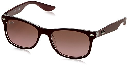 RAYBAN JUNIOR Unisex-Kinder Sonnenbrille 9052s, Matte Bordo On Transparent/Violetgradientbrown, 48