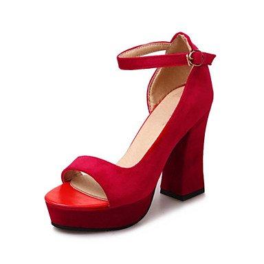 Donna Sandali Primavera Estate scarpe Club Comfort Novità fiore ragazza scarpe Glitter vello MaterialsWedding personalizzati Abbigliamento outdoor Ruby