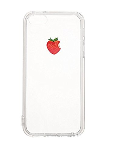Pacyer® iPhone 7 Custodia Slim fit Frutta TPU Gel Silicone Transparente Protettivo Skin Shell Case Cover Per Apple iPhone 7 (4.7) Fragola