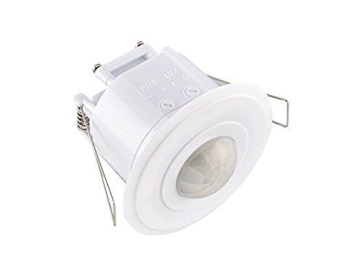 Sensor de seguridad LE Electronics, PM220, paratecho, con ángulo de 360º y 5m de radio. Incluye detector de movimiento PIR y luz automática blanca