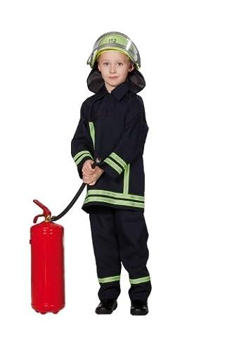 Rubie's 1 2629 116 - Feuerwehrmann Kostüm, 2-teilig, Größe 116