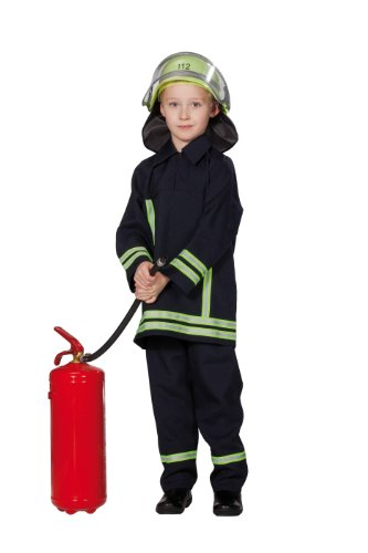 Ideen Feuerwehrmann Kostüm (Rubie's 1 2629 140 - Feuerwehrmann Kostüm, Größe 140,)