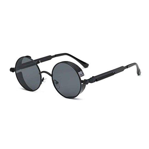 Minzhi Frauen M?nner Steampunk Sonnenbrillen Metallrahmen Runde Brillen -