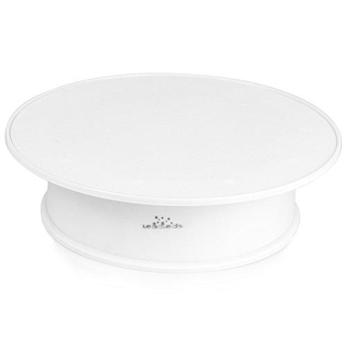 leadleds 20,3cm weiß Samt Top motorisiert drehbar Display Plattenspieler ideal für Jewelry Hobby Collectible Produkt (2er Pack)