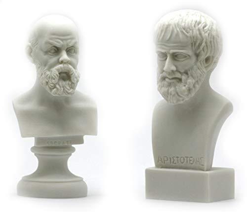 Sokrates und Aristoteles - Skulptur, Motiv: griechische Philosophen